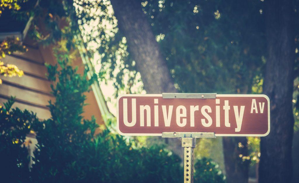 University Ave Sign